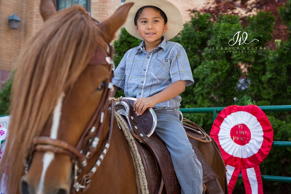 Little boy on a horse at the Peruvian Embassy