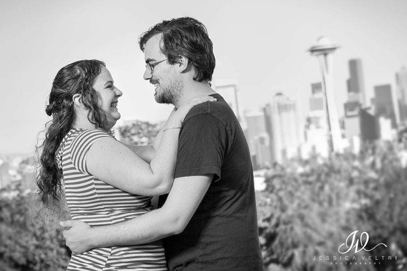 We finished up the engagement shoot by heading to Kerry Park where we got some of the awesome Seattle skyline in the background.