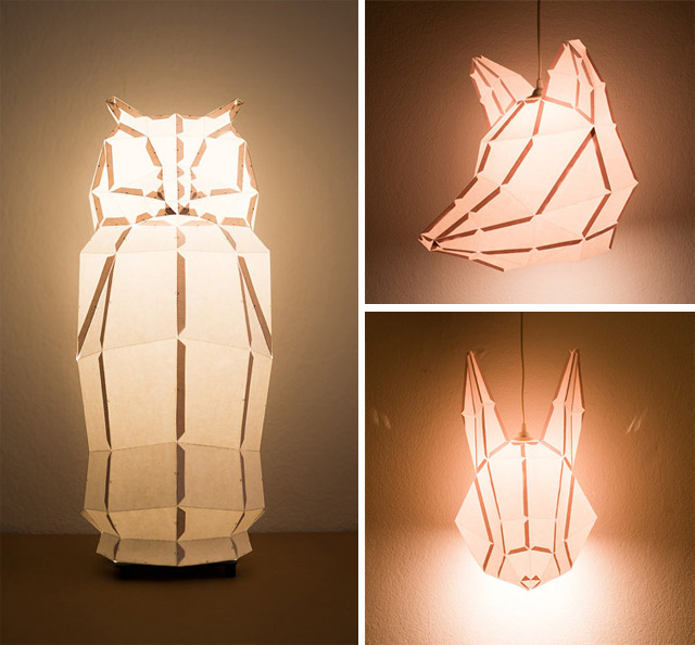 Diggin (via DIY Foldable Paper Animal Lights by MostLikely | Colossal)