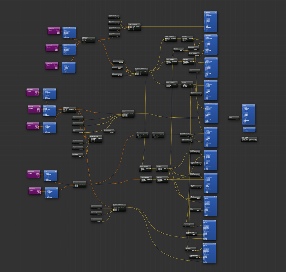 Here's the dirty. Look at all those noodles. So much logic for such a simple animation.