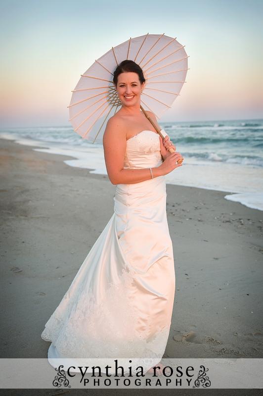 Emerald Isle beach wedding | Cynthia Rose Photography