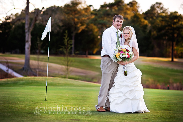 Jacksonville NC Country Club Wedding | Cynthia Rose Photography