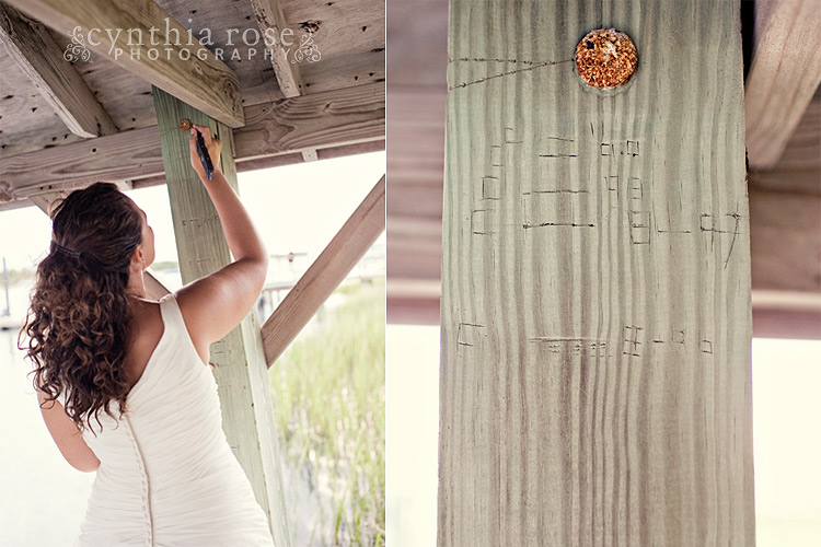 Beaufort NC trash the dress photography