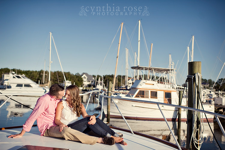 Beaufort NC engagement photographer