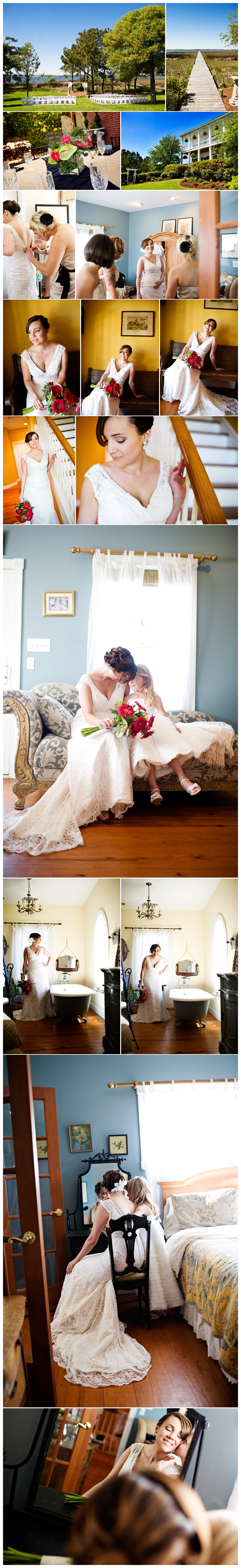 Emerald Isle NC Watson House wedding photographer