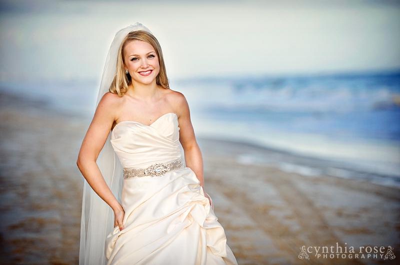 Emerald Isle NC bridal portrait photographer