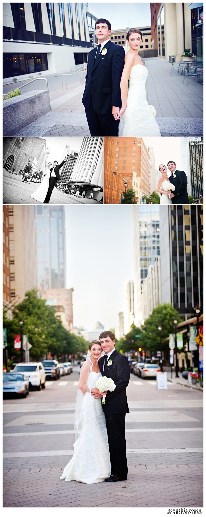 Downtown Raleigh wedding photographer