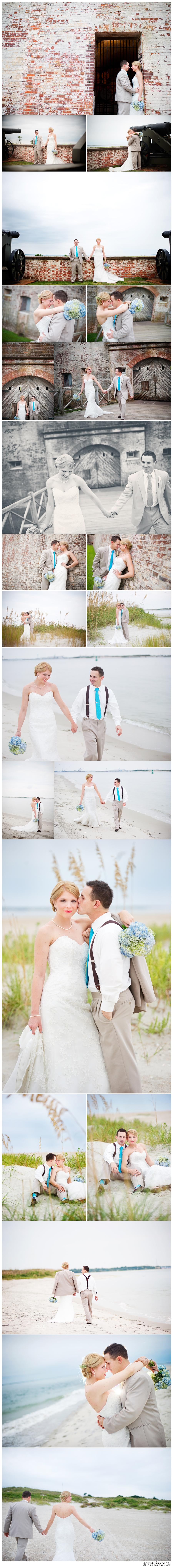 Fort Macon Atlantic Beach wedding photographer
