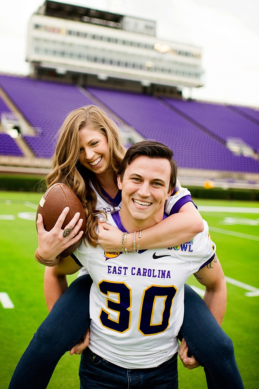 Kelly & Cody are ECU Pirates, and Cody is a former ECU football player - this was perfect!