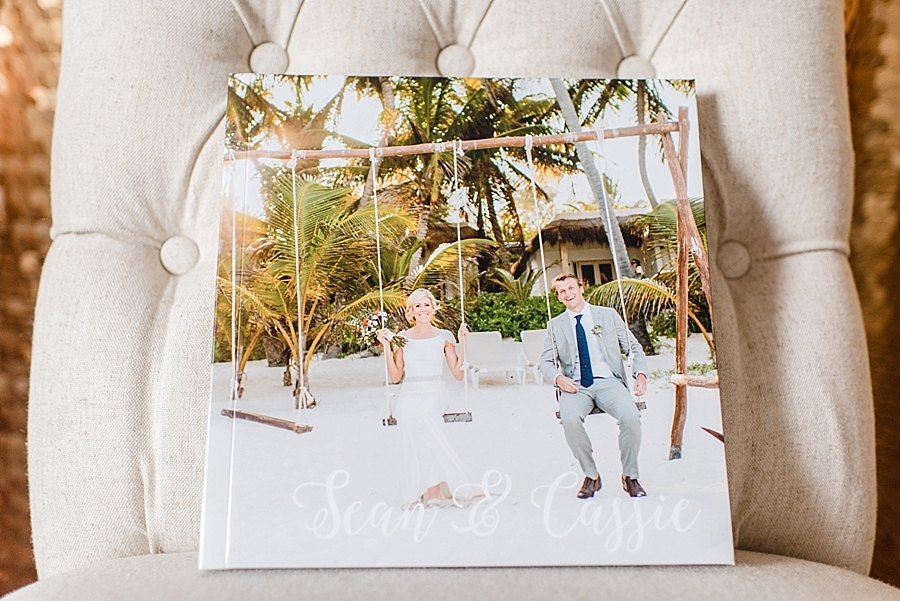 12x12 30-sided parent album. Shown is a Photowrap cover with custom cover text.