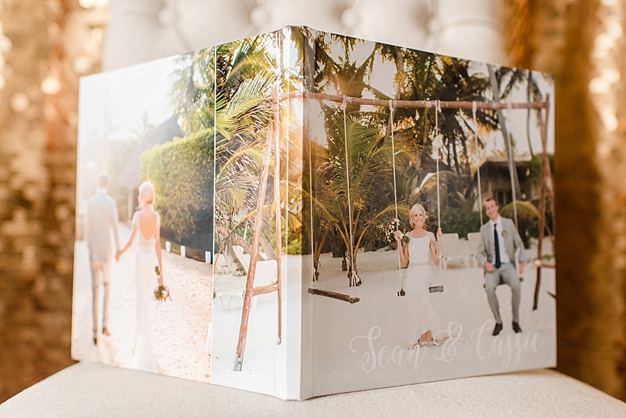 A better view of the photo wrap cover. We featured two images on the front and back, with the front image wrapping around the spine. A portrait-orientation image is featured on the back cover.
