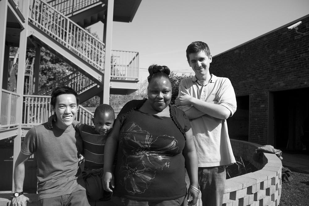 Me, Raheim, Rasheeda and Alex, who was also working with the family.