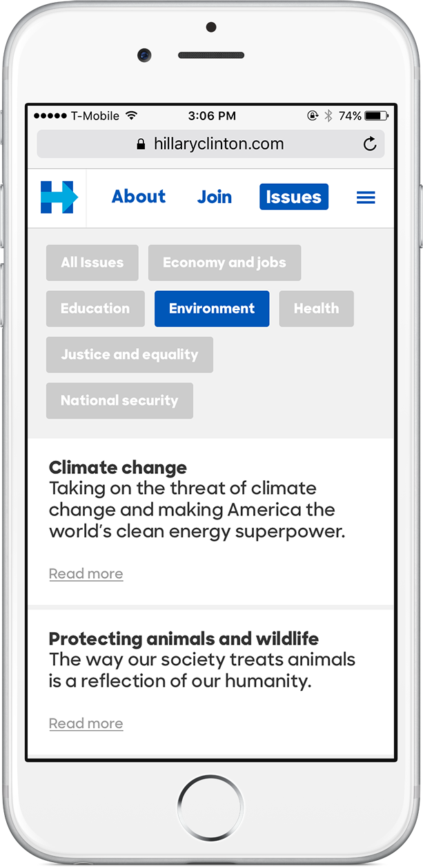 Policy picker -