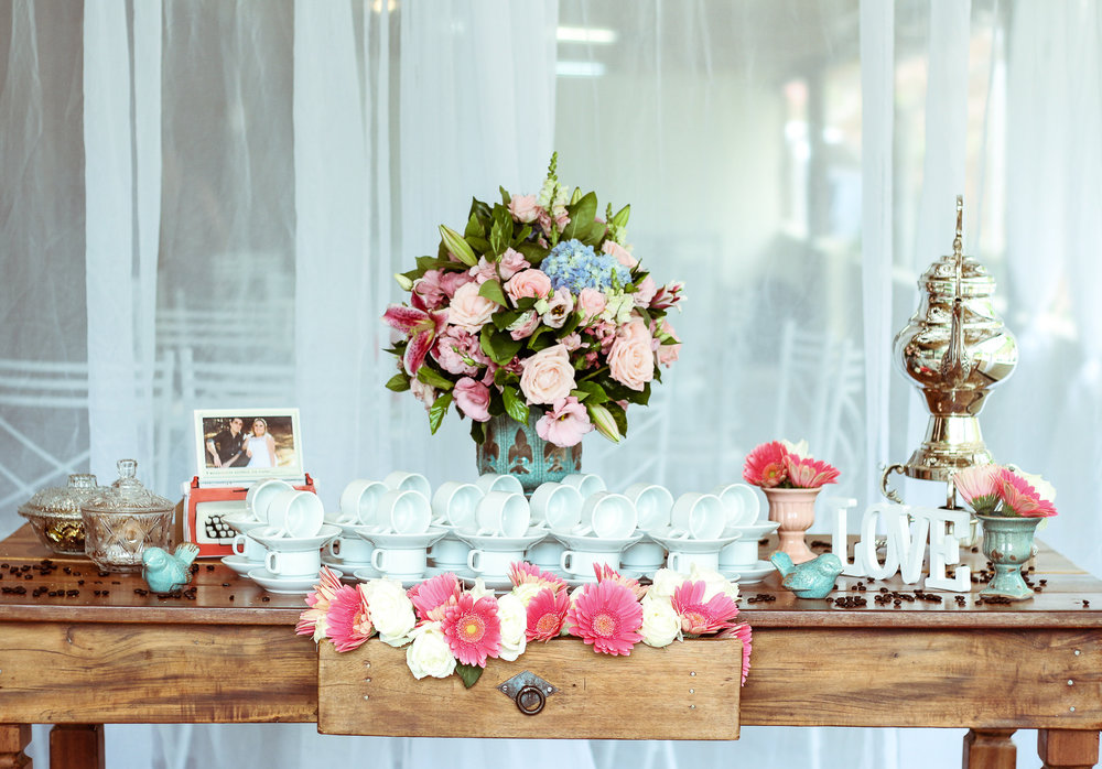 6.Ceremony & Reception Decor. Tastefully incorporate your photos into the decor. -
