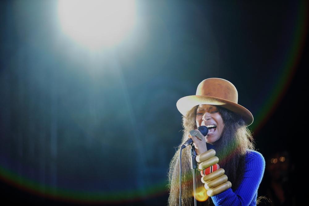 Erykah Badu in concert in Nairobi