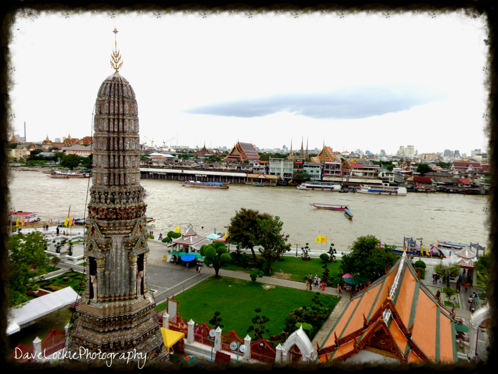 View from the top of Wat Arun.