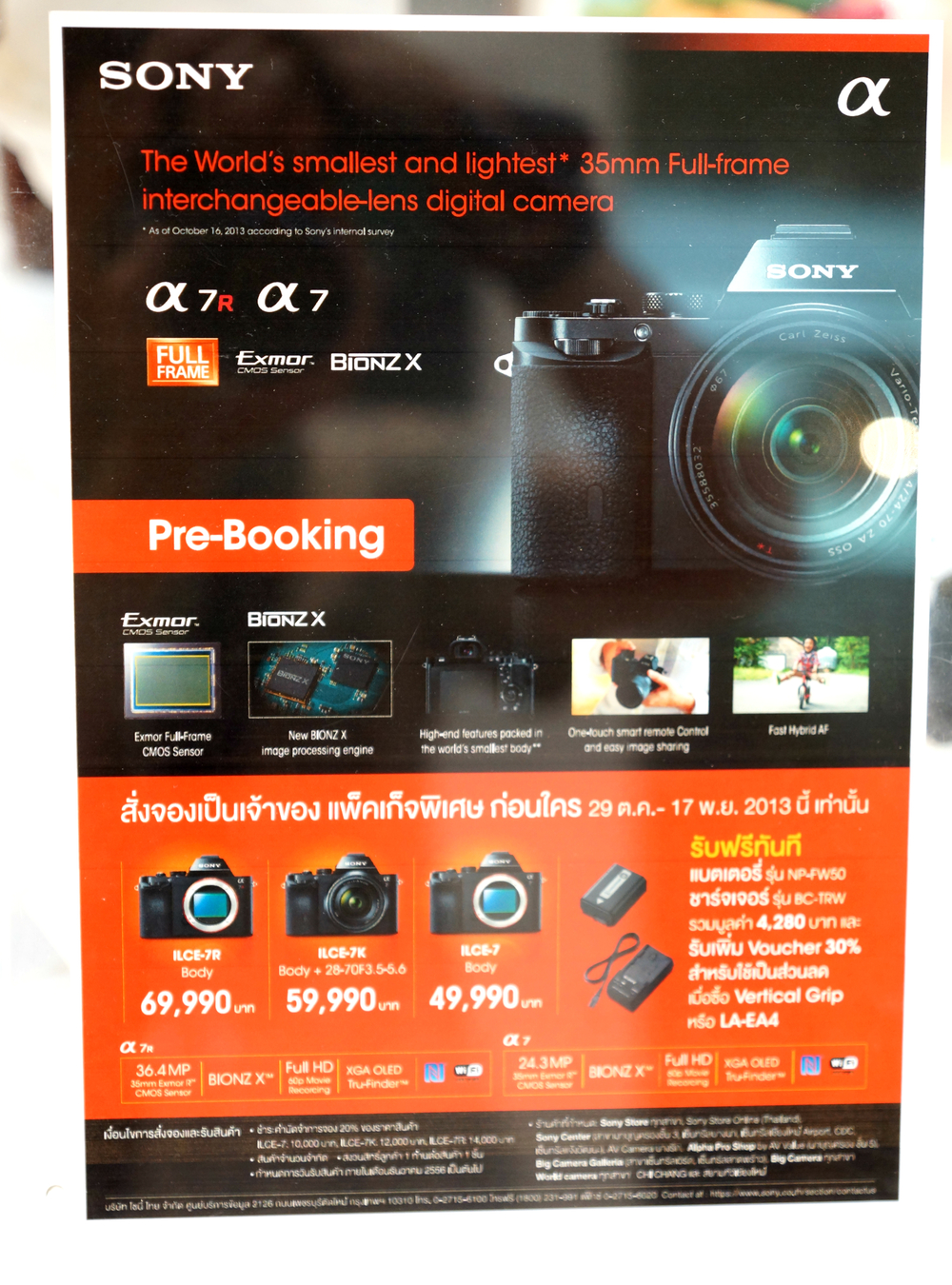 Sony a7 and a7r prices