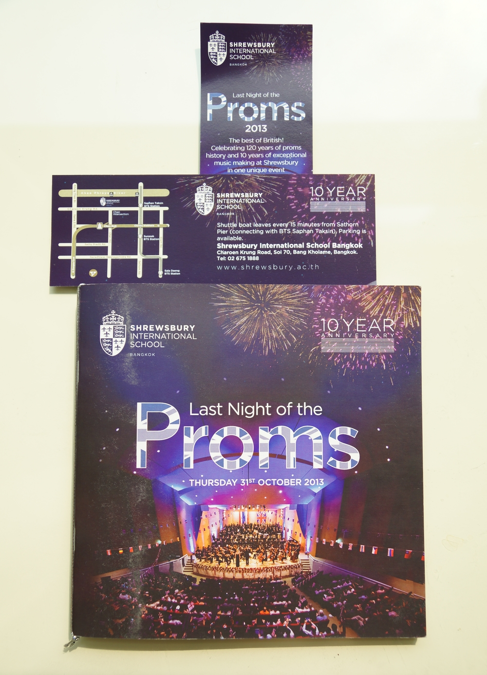 Brochure and tickets for The Proms.