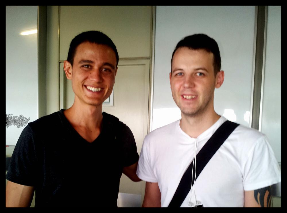 Mark Wiens and I.