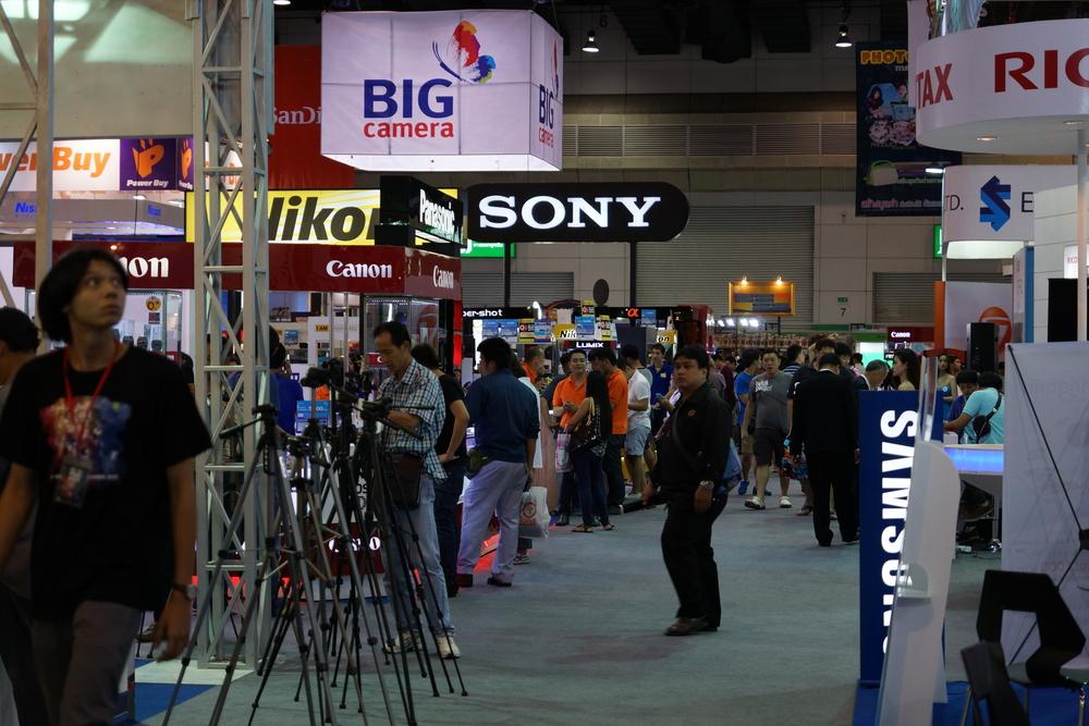 Inside the Centre. Sony, Nikon, Canon, Pentax, Olympus..... everybody.