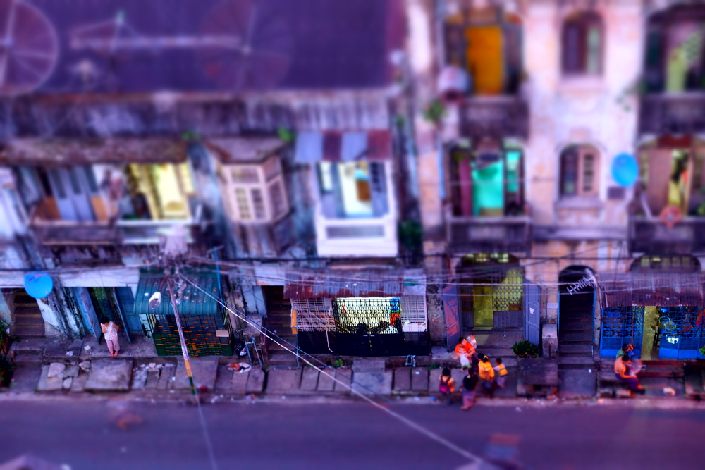 Streets of Yangon.