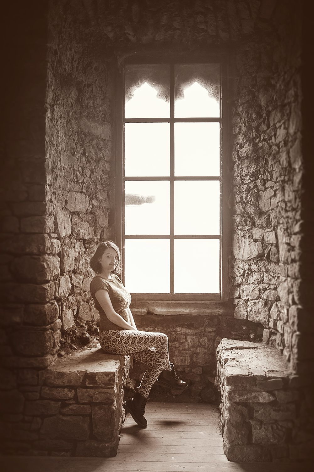 Sarah and the Castle Window