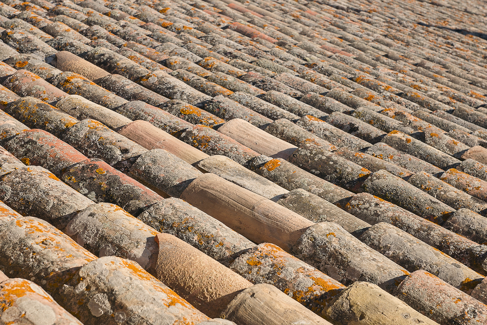 Abstract Tile Roof