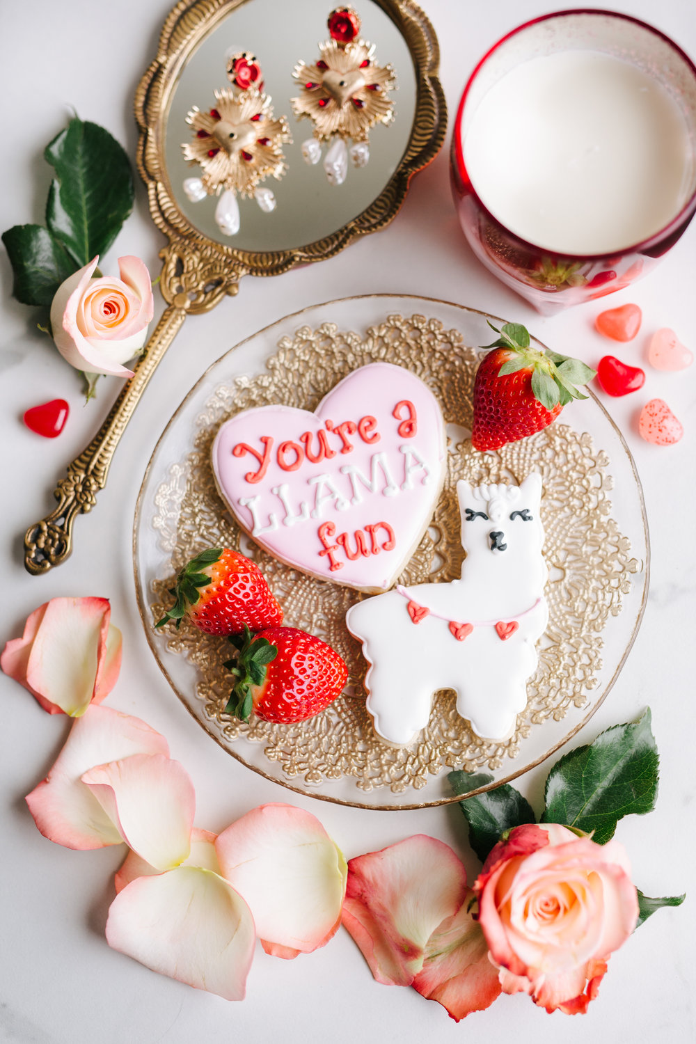 Something as simple as a decorated cookie (with a pun!) like this adorable and affordable cookie pair from  Baking Me Happy  is the perfect gift for your significant other to share together!