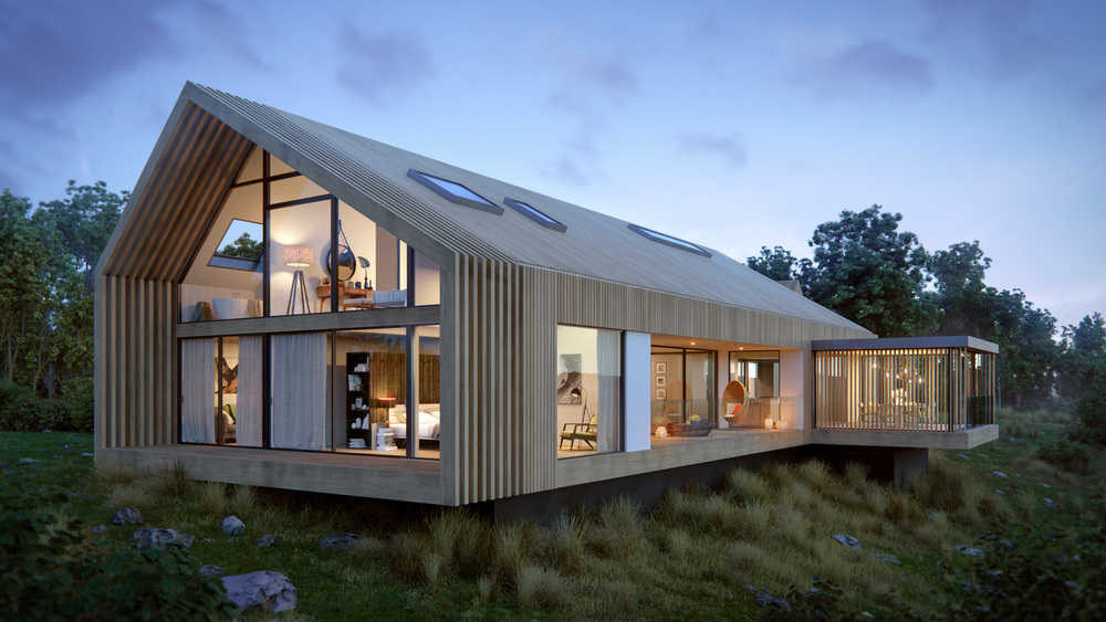 goal to create a bespoke contemporary barn house- minimalistic yet the  design