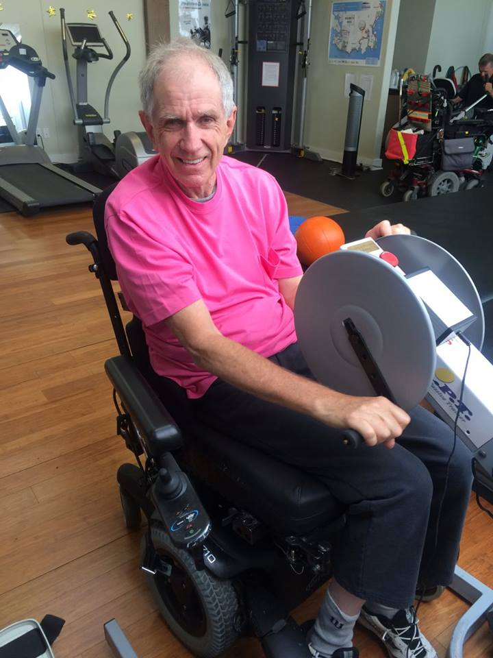 Meet Graham! - How long have you been coming to MOVE? I've been coming to move for 1 yearWhat do you like best about MOVE? The accessibility, the nice volunteers and people, and I get lots of help which I would not get at a regular gym, allowing me to continue to exerciseWhat positive changes have you noticed in your life since starting at MOVE? Increased stamina and the ability to stay active, which has delayed the progression of my diseaseWhat is your favourite way to move? Standing in the standing frame or using the sit-to-stand