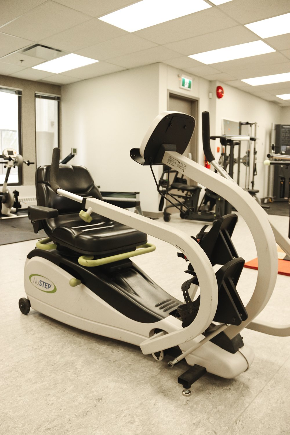 nustep - The NuStep provides a total-body cardio and strength workout, which supports healthy heart and brain function. Regular exercise on our cross trainer can also help build and retain muscle mass while increasing flexibility and range of motion.