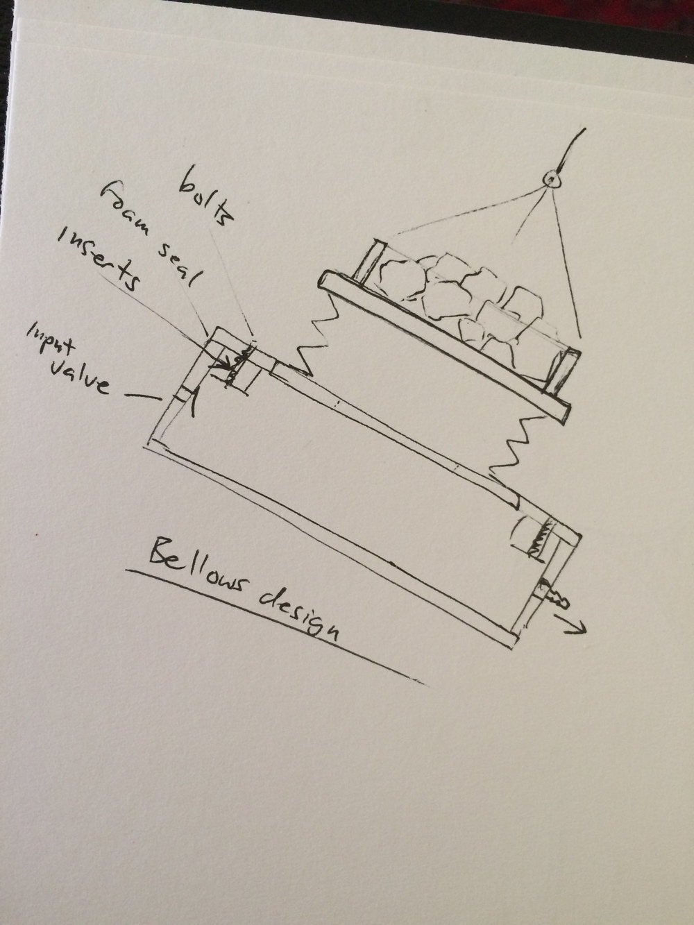 Bellows and air box sketch