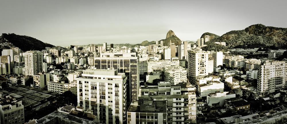 O bairro de Botafogo visto de cima