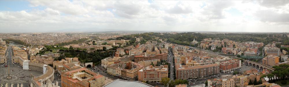 Do alto da Basílica de São Pedro