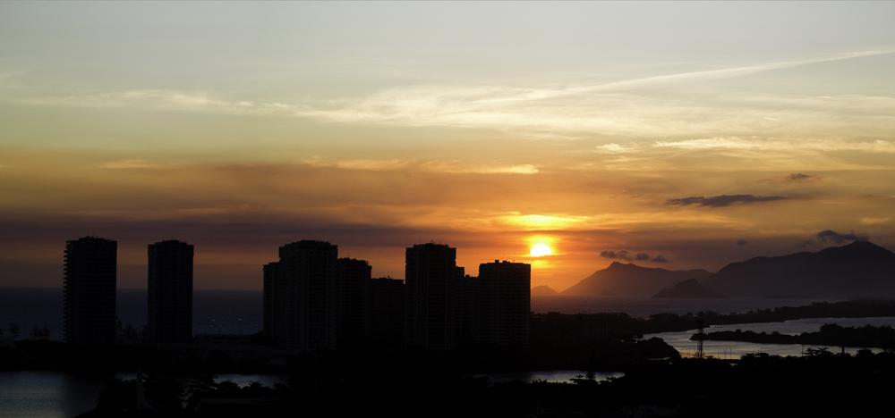 Pôr-do-sol na praia da Barra