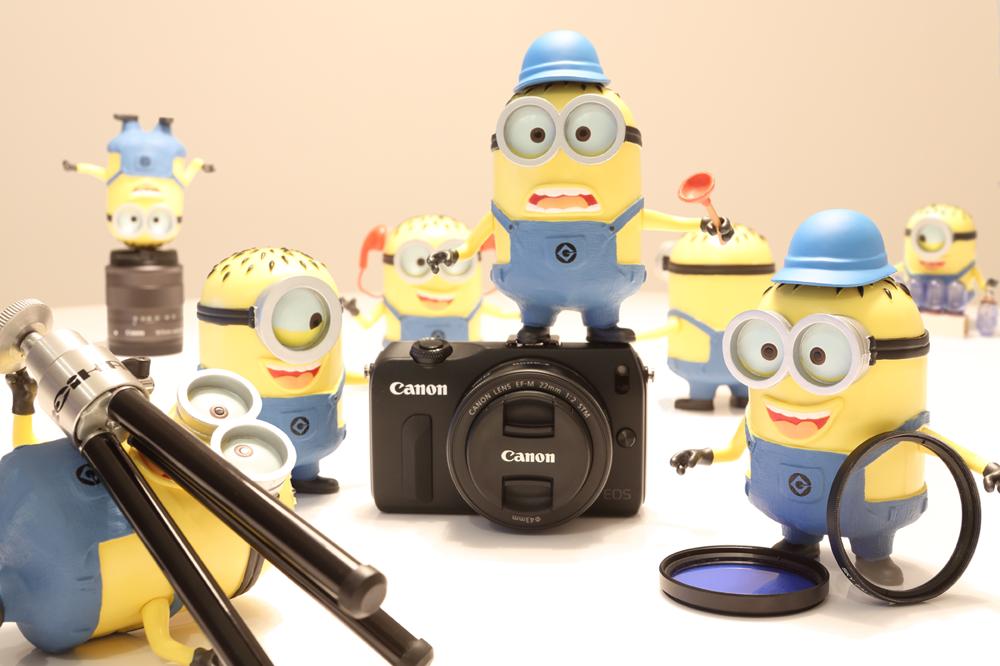 Minions preparando a foto