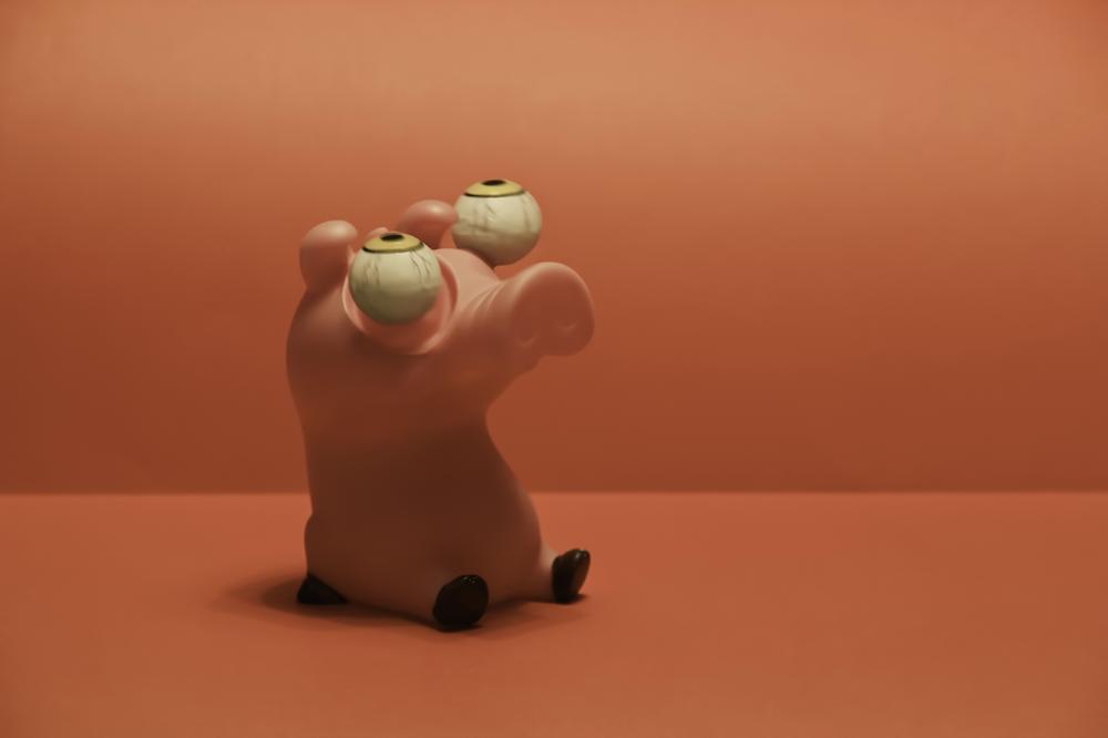 Piggy assustada