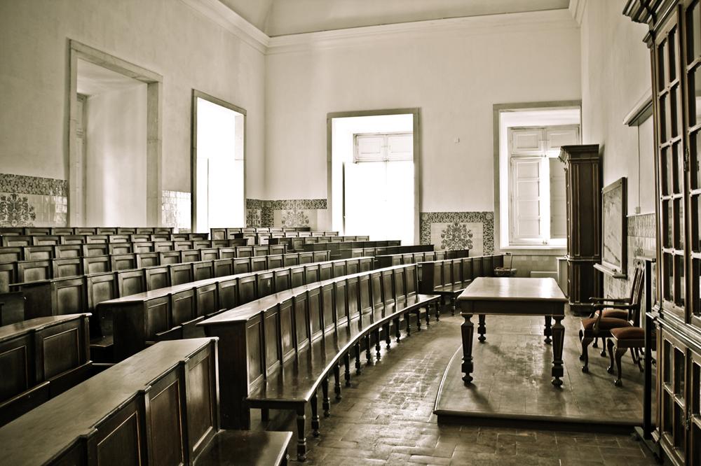 Dentro da Faculdade de Direito