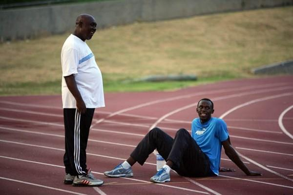 Coach Glen Mills OD and Usain Bolt