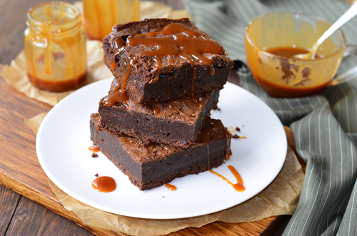 Gluten Free Salted Caramel Brownie