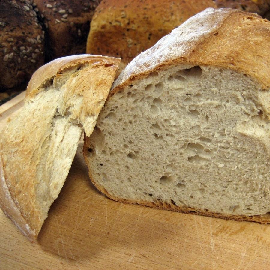 LANDBRØD Vårt landbrød bakes på surdeig - har du smakt det? Hvetemel, vann, surdeig, gjær, salt, rug, opus. 59,- Inneholder: hvete
