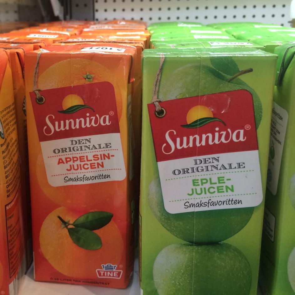 JUICE Liten drikke med sugerør fra Sunniva. Ulike smaker. 0,2 l. 21,- (ta med 19,-)