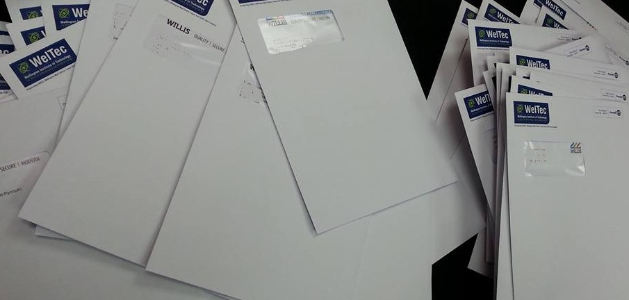 The mountain of envelopes we sent out this week!