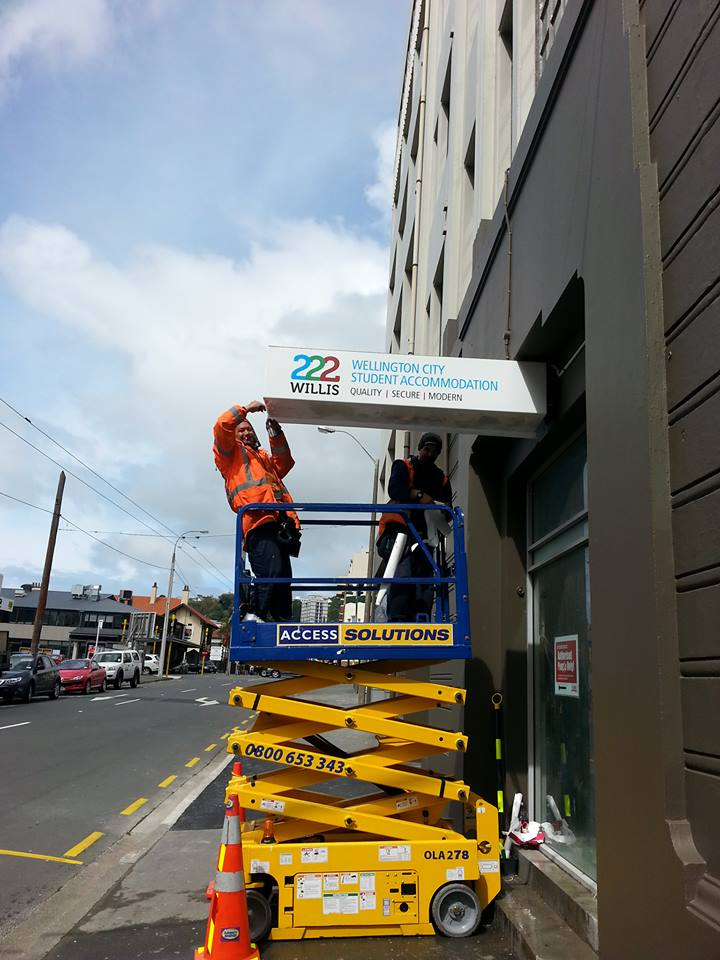 The first of our exterior signs have gone up!