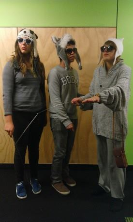We held Triplet Tuesday.  Residents had to dress up as a threesome of some description.  Here are our winners the Three Blind Mice.