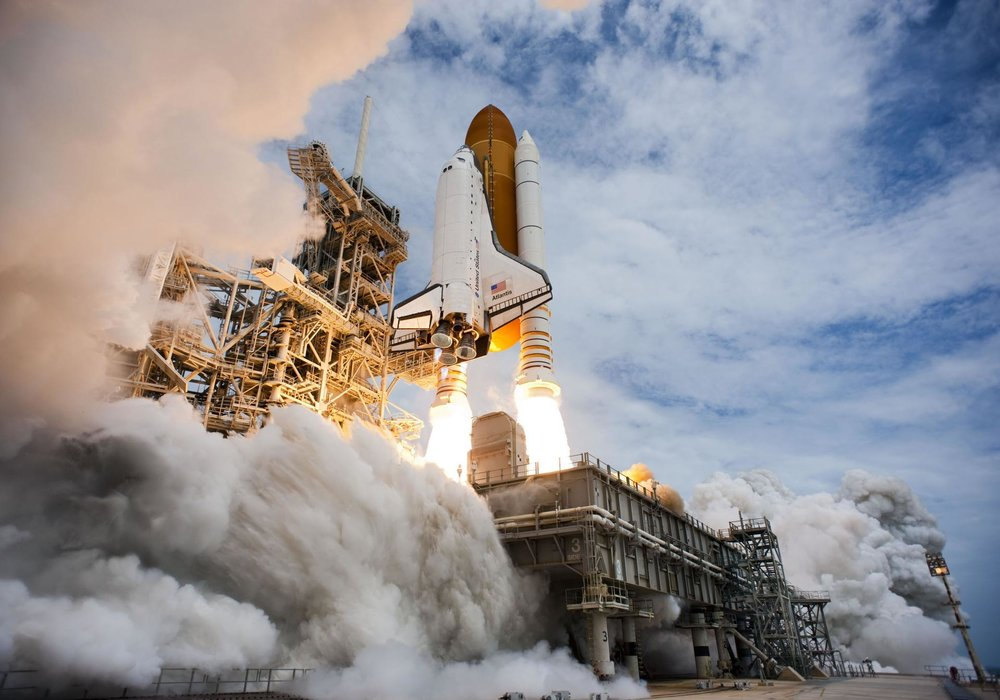 STS-135: the final launch of the Space Shuttle Program (courtesy of NASA)
