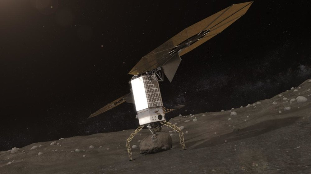NASA Asteroid Redirect Robotic ARM Mission capturing an asteroid boulder (courtesy of  NASA )