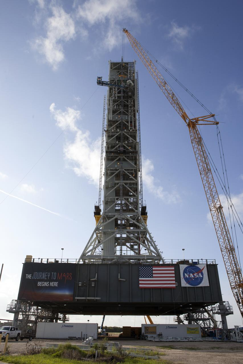 Construction of Mobile Launcher Number One for the SLS Program (Courtesy of  NASA )