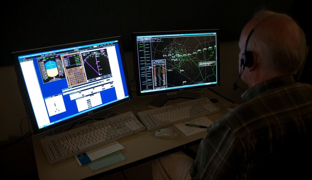 Simulation in the Ames Air Traffic Management Laboratory (Courtesy of  NASA )