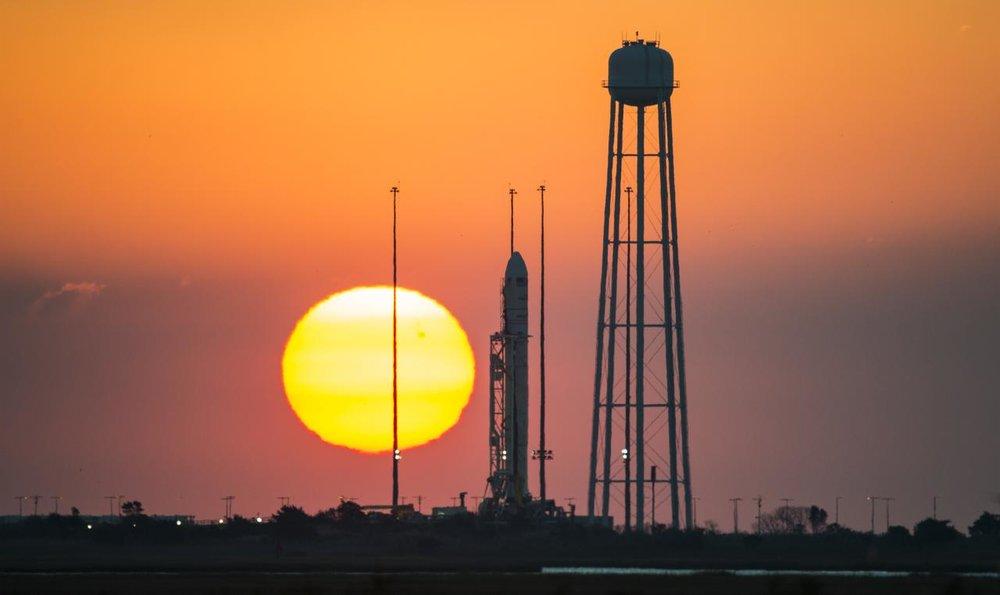 Sunrise at NASA's Wallops Flight Facility (Courtesy of  NASA )